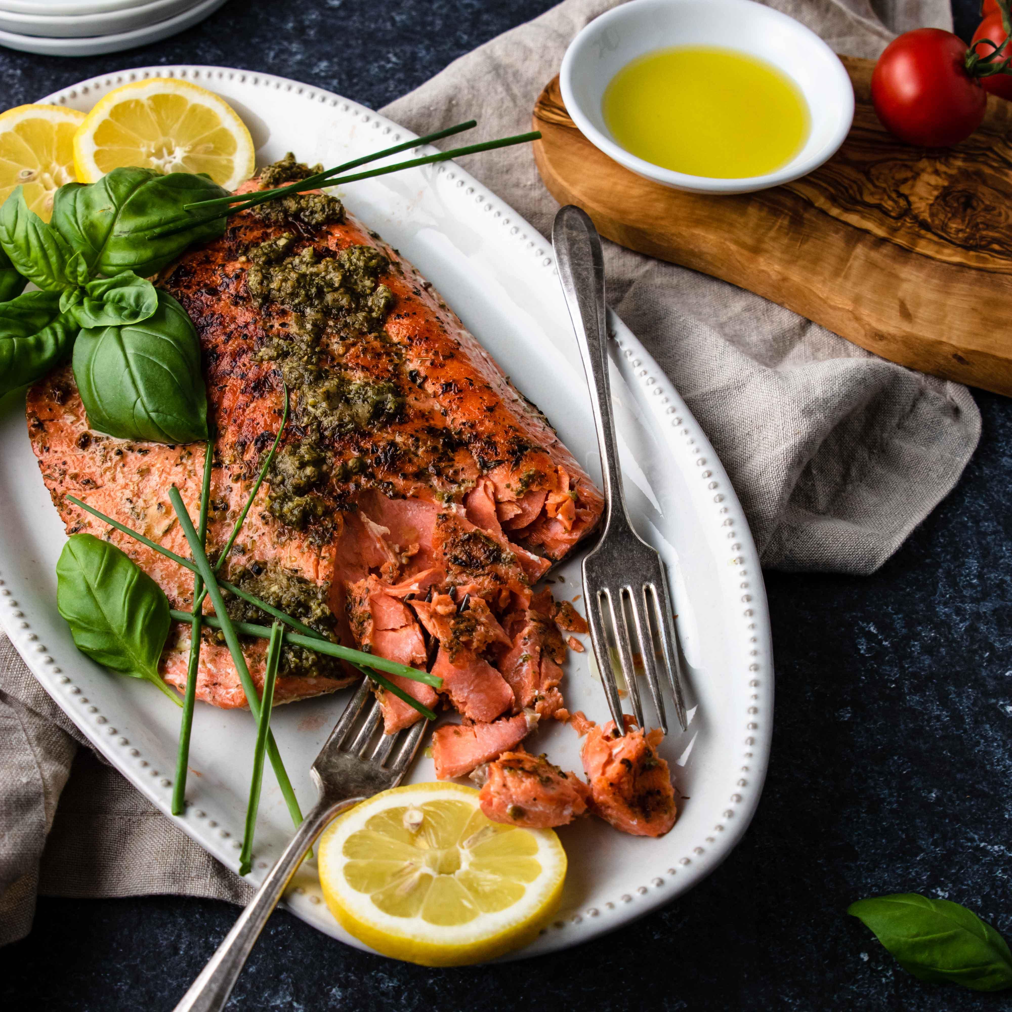 Baked Salmon Food Photo