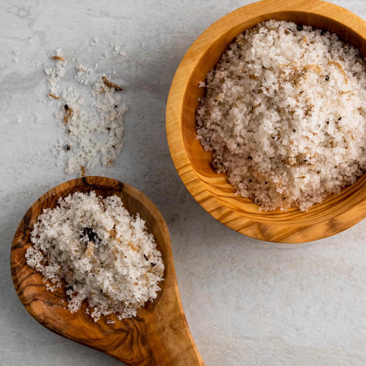 truffle salt product photography